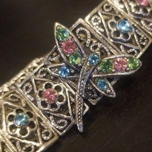 Jewelry - Silver Crystal Butterfly Bracelet
